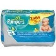 Салфетки Pampers увлажненные Baby fresh + алое 2 уп 64 шт фото