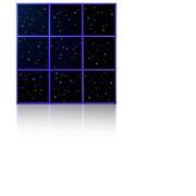 Фиброоптический модуль Звездное небо (9 плиток) с пультом управления фото