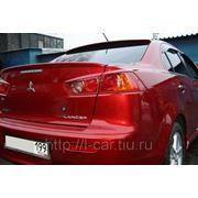 Накладка на заднее стекло для Mitsubishi Lancer X фото