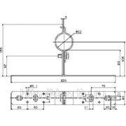 105340 Крепежный уголок для трубостоек NIRO (DEHN) фото