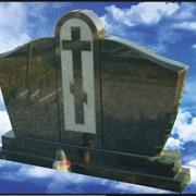 Элитный гранитный памятник E-6 фото