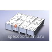 Бак фекальный МСБ-1/10 (секция приемная - 1шт., секция торцевая - 1 шт., секция рядовая - 10шт.) Сер фото