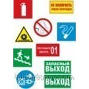 Знаки безопасности в ассортименте на пластике фото