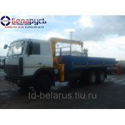 (воровайка) Бортовой автомобиль с КМУ МАЗ-6303А5-340 с краном манипулятором Soosan SCS 513 фото