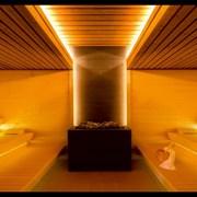 Декоративное освещение в баню фото