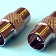 Переходник штекер антенный - штекер антенный металлический фото