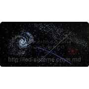 Галактика с одноцветным фоном фото