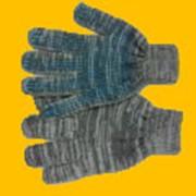Перчатка серая с пвх точка фото