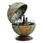 Глобус-баp настольный Zoffoli сфера 40 см., цвет Лагуна фото