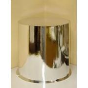Коробка для торта круглая серии Сильвер (300*420) серебро фото