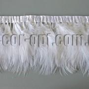 Перо-юбка пуховое белая 14-18см/2м 570423 фото