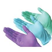 Перчатки из нитрила (пара)S, M, L голубые, фиолетовые, розовые, зеленые, черные фото