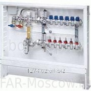 Сборный регулирующий узел для напольного отопления, 9 отводов, в коллекторном шкафу, отводы М24х19, артикул FK 3565 109 фото