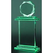 Награда стеклянная, в комплекте футляр фото