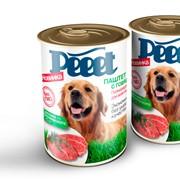 """Корм консервированный для собак """"Peeet"""", паштет с говядиной фото"""