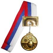 Медаль Волейбол 40мм на ленте с цветами флага России фото