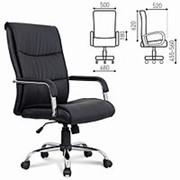 """Кресло для руководителя Brabix """"Space EX-508"""", экокожа, хром, черное фото"""