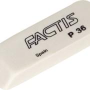 Ластик FACTIS мягкий скошенный, из непрозрачного пластика, разм. 56х19,5х9 мм фото