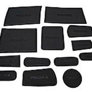 Противоскользящие коврики для ниш салона PRIORA 1 черные фото
