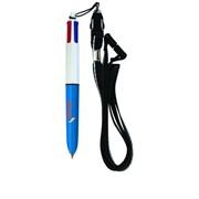 Ручка пластиковая? 4-х цветная со шнуром Артикул 1104(4 Colors Mini with Lanyard) фото