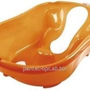 Ванна дитяча Onda Evolution з анатомічною гіркою та термодатчиком, колір помаранчевий, артикул 38084540 фото