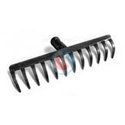 Грабли металлические прямые 12 зубьев фото