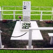 Ограждение могилы мраморное фото