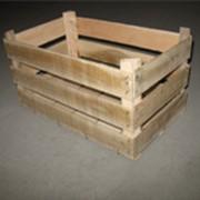 Деревянные ящики, тара для яблок фото