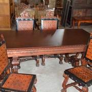 Стол и шесть стульев Неорэнесанс фото