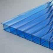 Сотовый поликарбонат синий 4мм Oscar (Оскар) фото