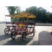 Четырехместный велосипед фото
