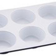 """Форма для кексов """"Wellberg"""", на 6 шт, WB-9035, 30,8х18х3 см фото"""