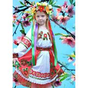Карнавальный национальный украинский детский костюм для девочек 3,4,5,6,7,8,9 ,10 лет фото