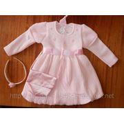 Платье вязанный трикотаж фото