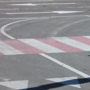 Разметка пешеходных переходов фото