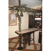 Барная стойка, кухонные столики и стулья фото