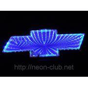 3D LED эмблема Chevrolet | Шевроле LED 17x5,5cм фото