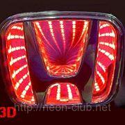 3D LED эмблема Honda | Хонда фото