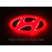 Горящая Задняя эмблема Hyundai | Хундай фото