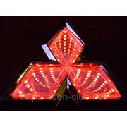 3D LED эмблема Mitsubishi | Митсубиши 8,7x7,6cм фото
