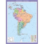 Південна Америка. Політична карта, м-б 1:8 000 000 фото