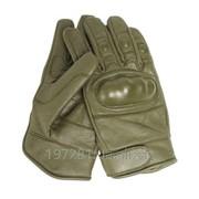 Кожаные тактические перчатки Mil-Tec, олива L фото
