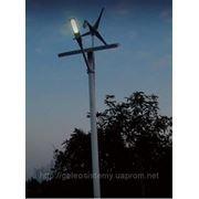 Автономная, гибридная, ветро-солнечная система уличного освещения фото