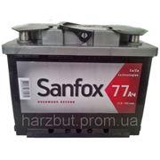 Автомобильный аккумулятор 6ст-77 Sanfox фото