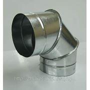 Отводы круглые из оцинкованной стали. фото