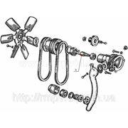 Водяной насос и вентилятор МТЗ-100 фото