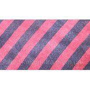 Велюр Полосатый Темно синий - Бордо(цвет отличается от оригинала) фото
