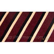 Велюр полосатый Бордо - Беж - черный фото