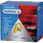 Беруши Venitex CONICO200JA со шнурком .Уп 200 пар. фото