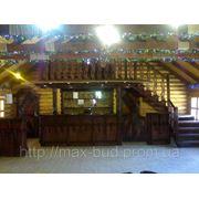 Мебель для баров иресторанов из дерева искуственно состарена фото
